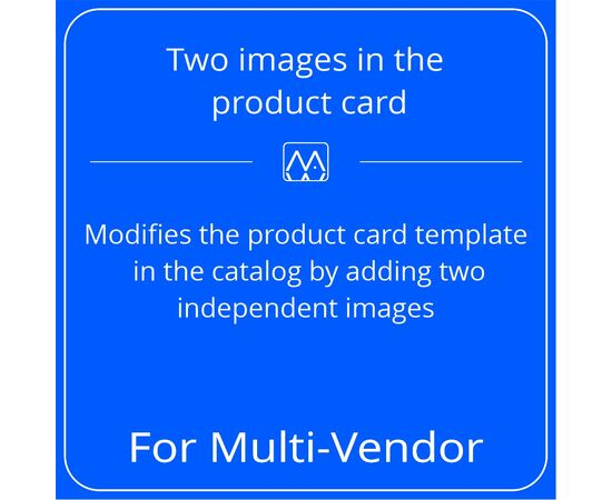 Two images in the product card for Multi-Vendor, License: CS-Cart Multi-Vendor, Subscribe to updates: 6 months, Number of domains: 1 domain, image , 2 image